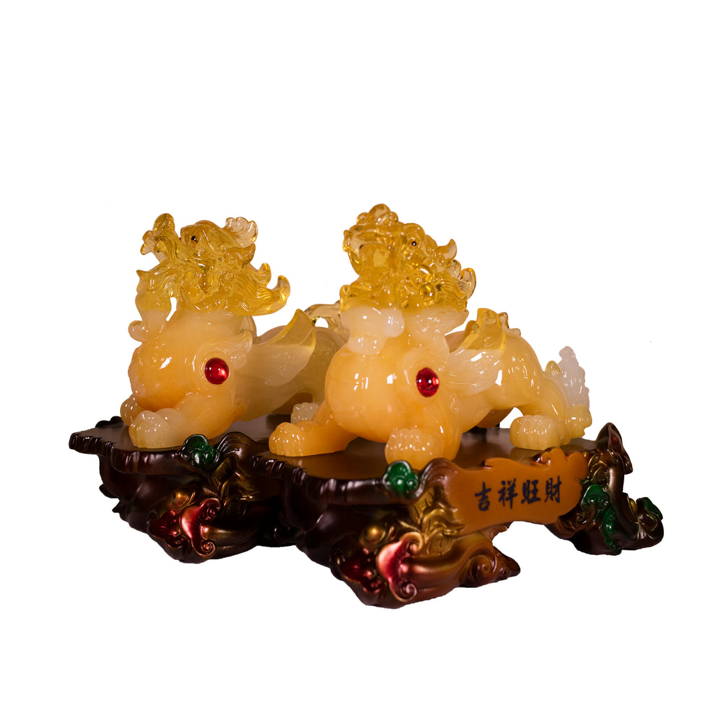PAIR YELLOW PIYAO (BIG) (A56)