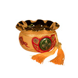 GOLDEN WEALTH POT WITH TASSEL (A27)