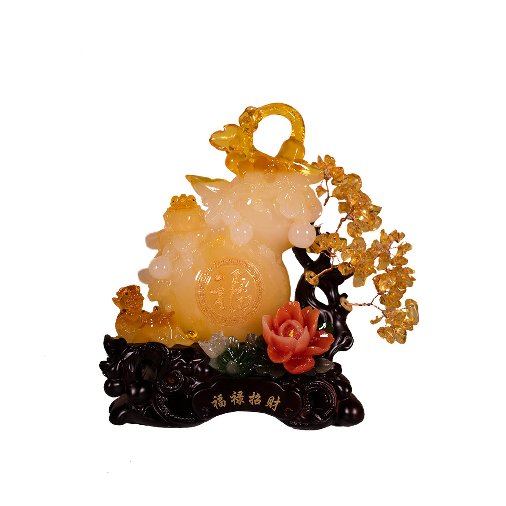 WULOU WITH CITRINE/PIYAO/3 LEGGED TOAD (A42)