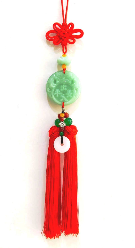 Jade Good luck hang Deco with Red tassel