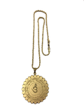MEDALLION FOR PROTECTION FROM EVIL SPIRITS (GOLD) with chain