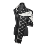 Mystic Knot Shawl - Black & White
