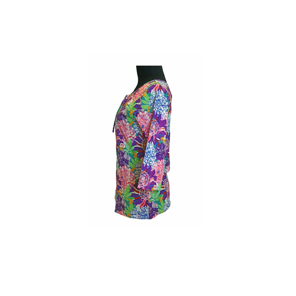 Top with Peep Hole with Tie - Wulou Floral