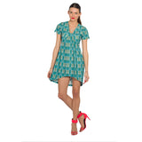 Double Happiness Dress with Centre Drapes