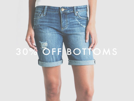 30% Off womens' bottoms