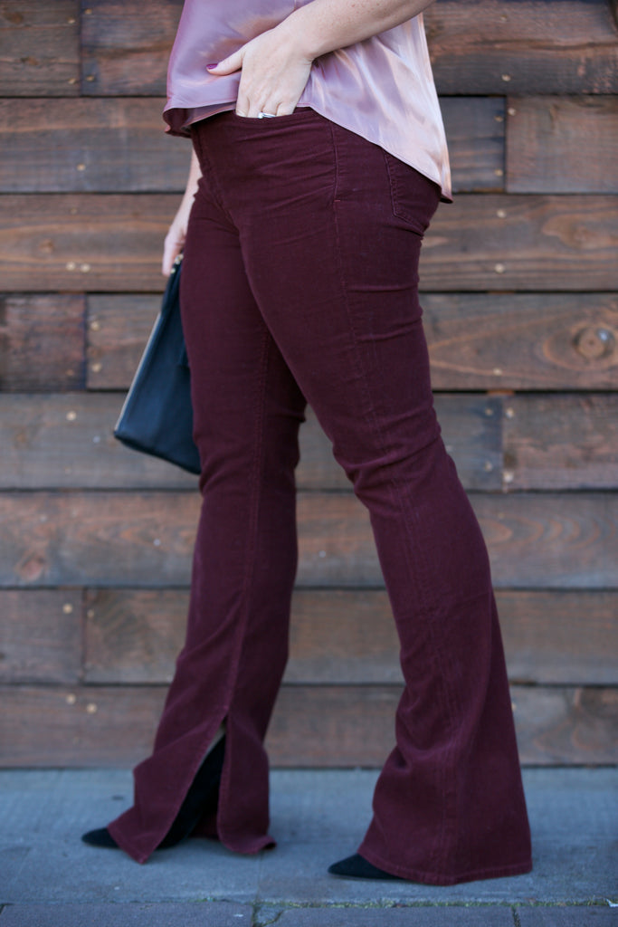 Citizens of Humanity Georgia High Rise Bootcut in Syrah