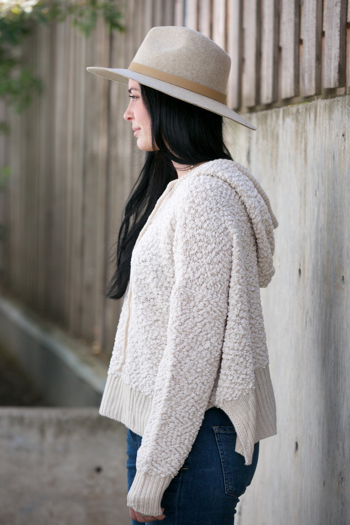 On The Road Popcorn Crop Sweater
