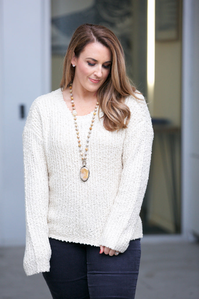 knot sisters Kimberlee Sweater Natural