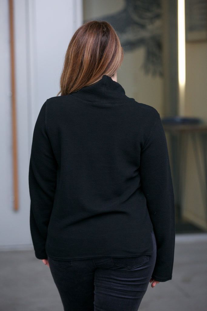 Hard Tail Cowl Neck Pullover Black