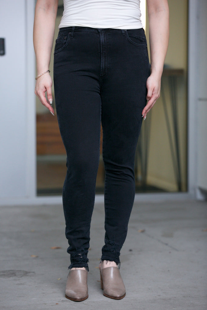 AGOLDE Roxanne Super High Rise Skinny in Proxy