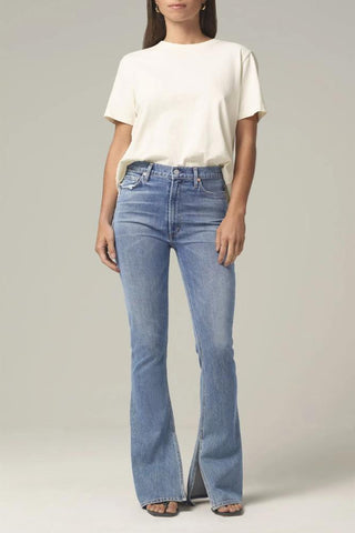 JOE'S JEANS The Charlie Ankle w/Cut Hem in Biscuit