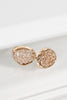 ADORN Dainty Oval Druzy Post Earrings