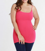 Niki Biki Plus Size Long Camisole in Fuschia