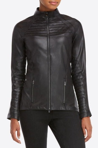 Shine Longline Ribbed Jacket