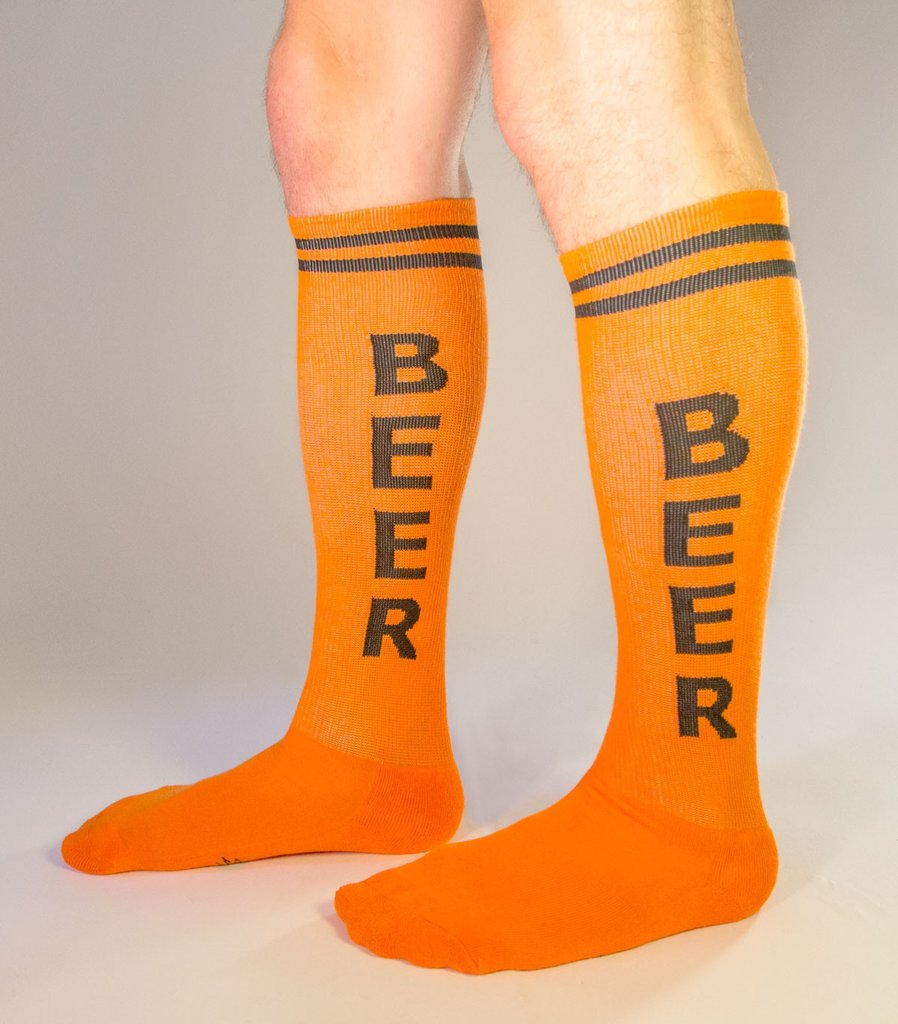 Gumball Poodle - Beer Orange Athletic Knee Socks