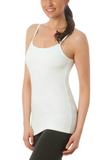 Hard Tail Long Sport Bra Tank in White