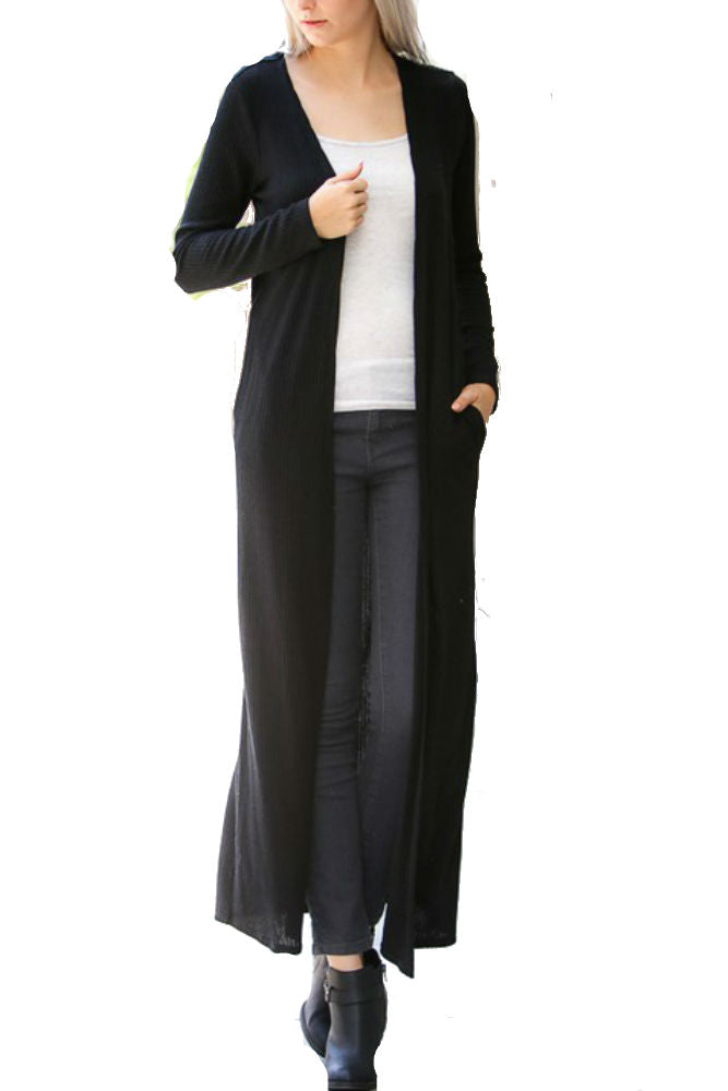My Story Long Maxi Cardigan in Black