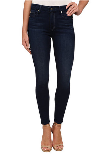 7 for All Mankind Highwaist Ankle Skinny in Slim Illusion Luxe Dark Legacy