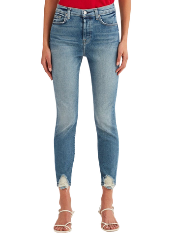 7 for All Mankind Josefina Boyfriend in Radiant Pier