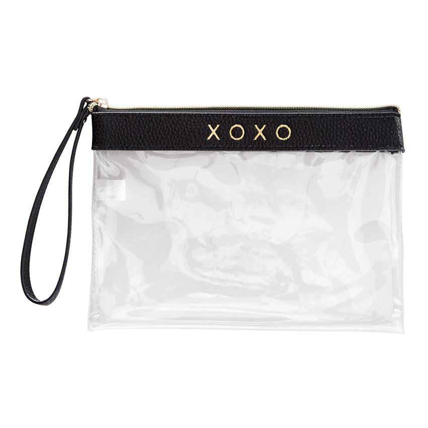 Mud Pie Clear Wristlet