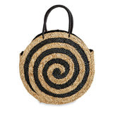 Mud Pie Large Spiral Circle Straw Tote