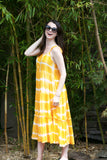 ADORN Amanda Tie Dye Maxi Dress Yellow