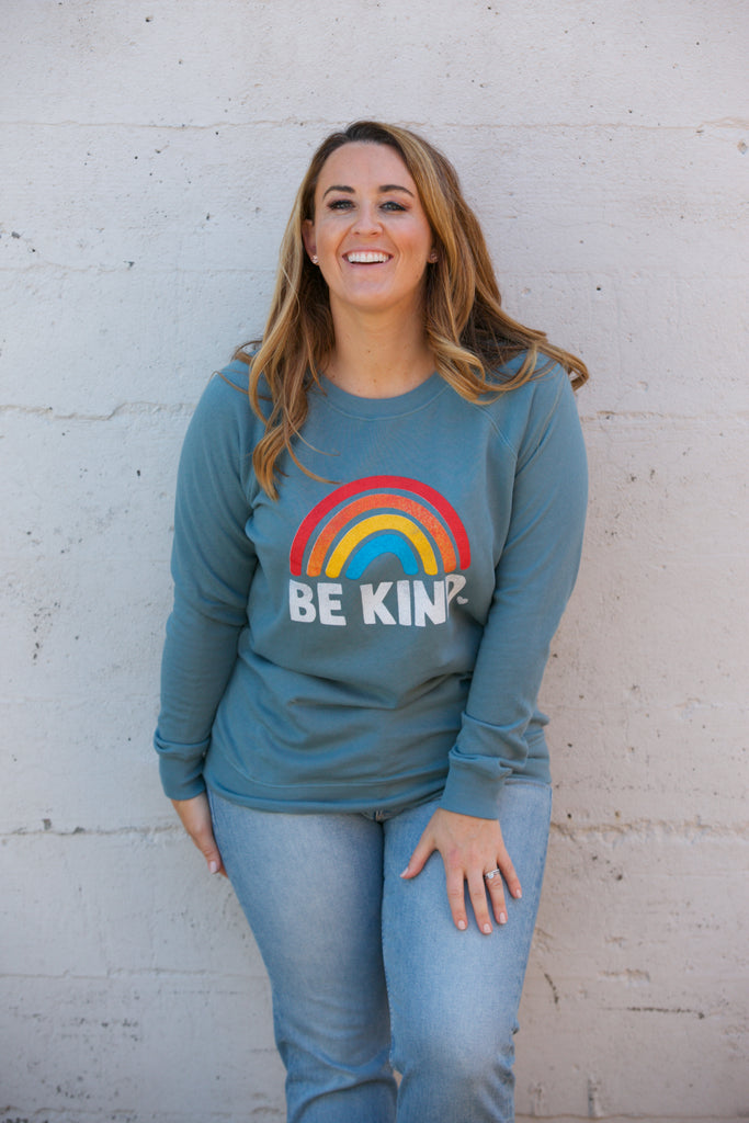 ADORN Be Kind Sweatshirt Teal