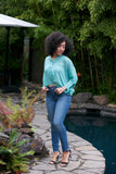 ADORN Boyfriend Shirt Green