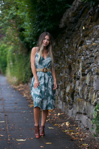 HOLIDAY Tropical Print Maxi Dress