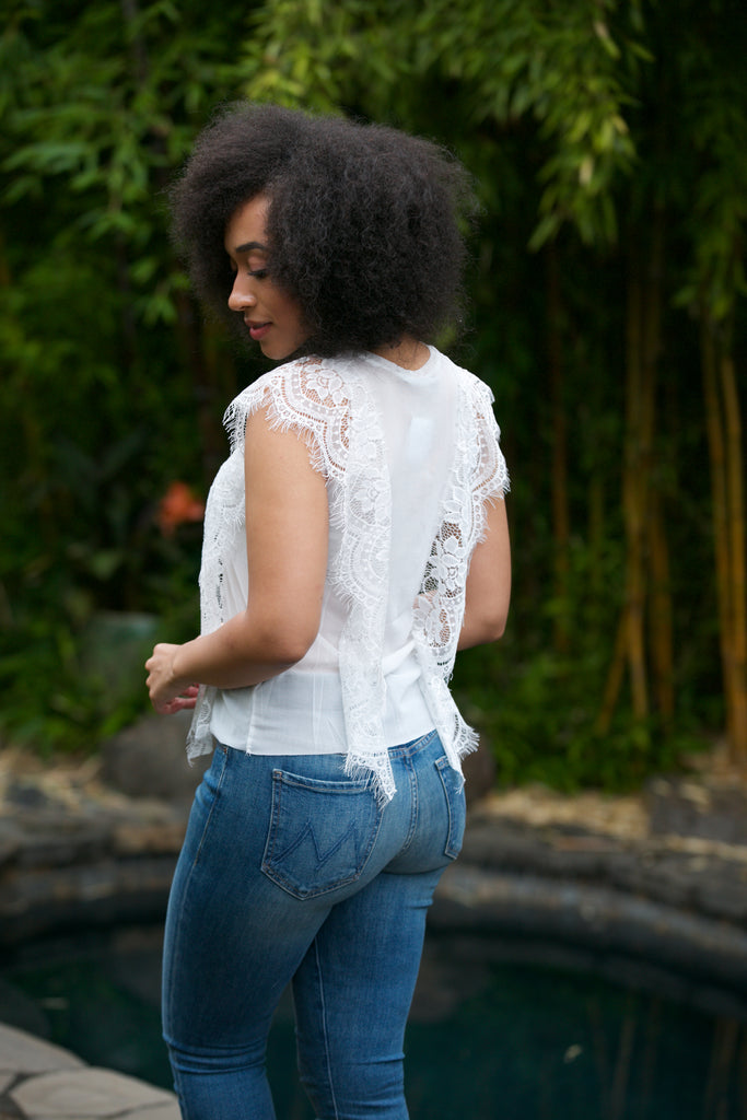 ADORN Sleeveless Lace Top