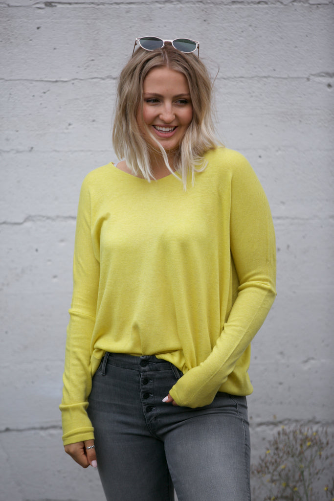 ADORN Slouchy Tunic Top Lime