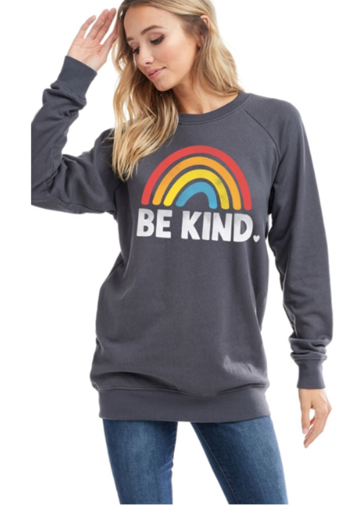 ADORN Be Kind Sweatshirt Charcoal
