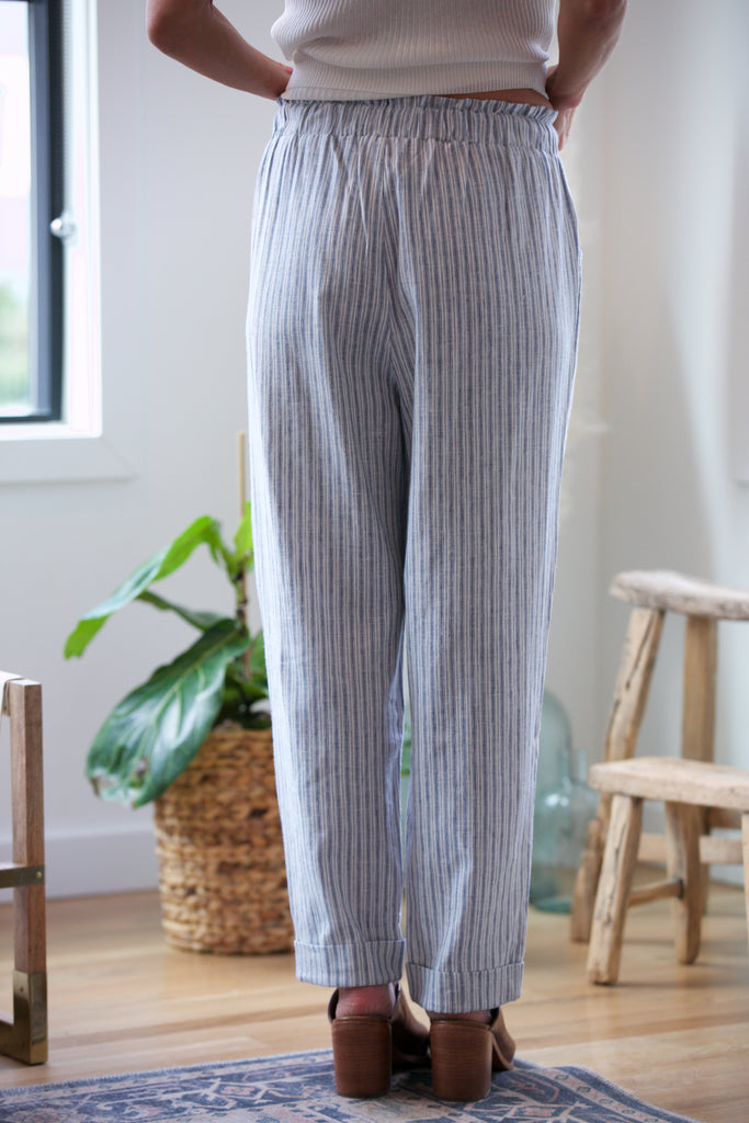 BLACK TAPE High Rise Stripe Pant