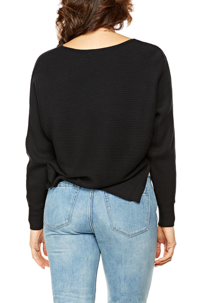 BLVD Dolman Sweater in Black