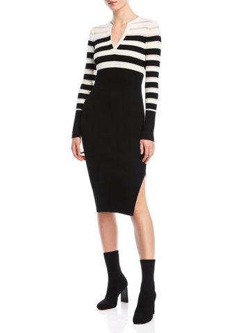 HOLIDAY Ribbed Knit Midi Dress