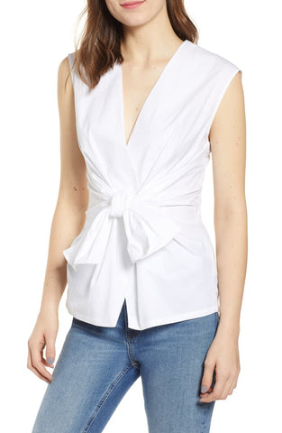 Bella Dahl Frayed Flowy Button Down