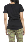 Bobi V-Neck Pocket Tee in Black