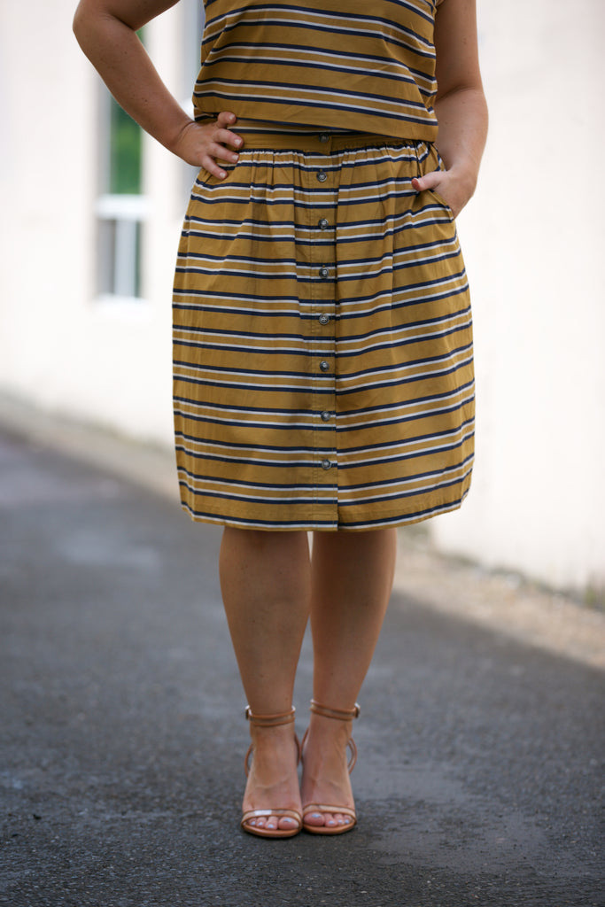 Bridge & Burn Opal Skirt in Gold Stripe