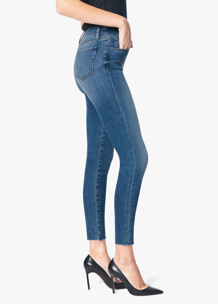 JOE'S JEANS The Charlie High Rise Skinny Ankle Raw Hem in Utopia