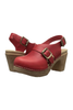 Calou Astrid High Heel Clog in Red
