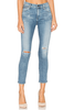 Citizens of Humanity Rocket Crop High Rise Skinny in Distressed Fizzle