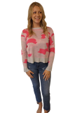 HOLIDAY Camouflage Sweater Neon Pink