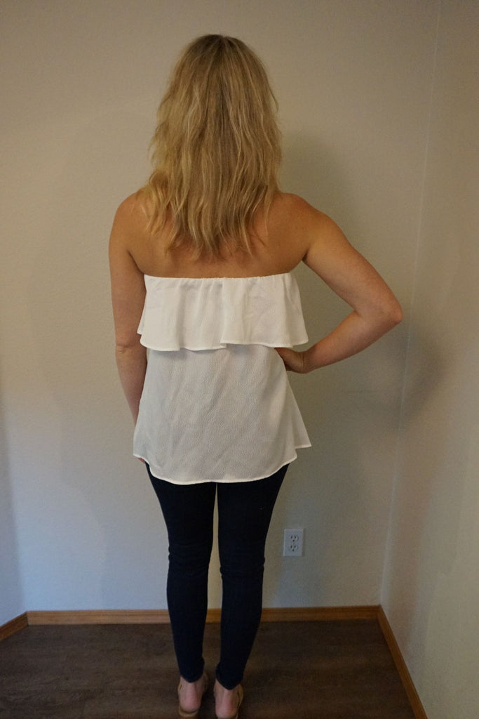 HOLIDAY Strapless Crepe Tank