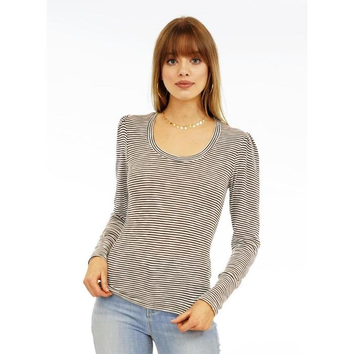 Veronica M. Knit Puff Sleeve Top