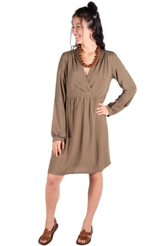 ADORN Silky Satin Faux Wrap Dress