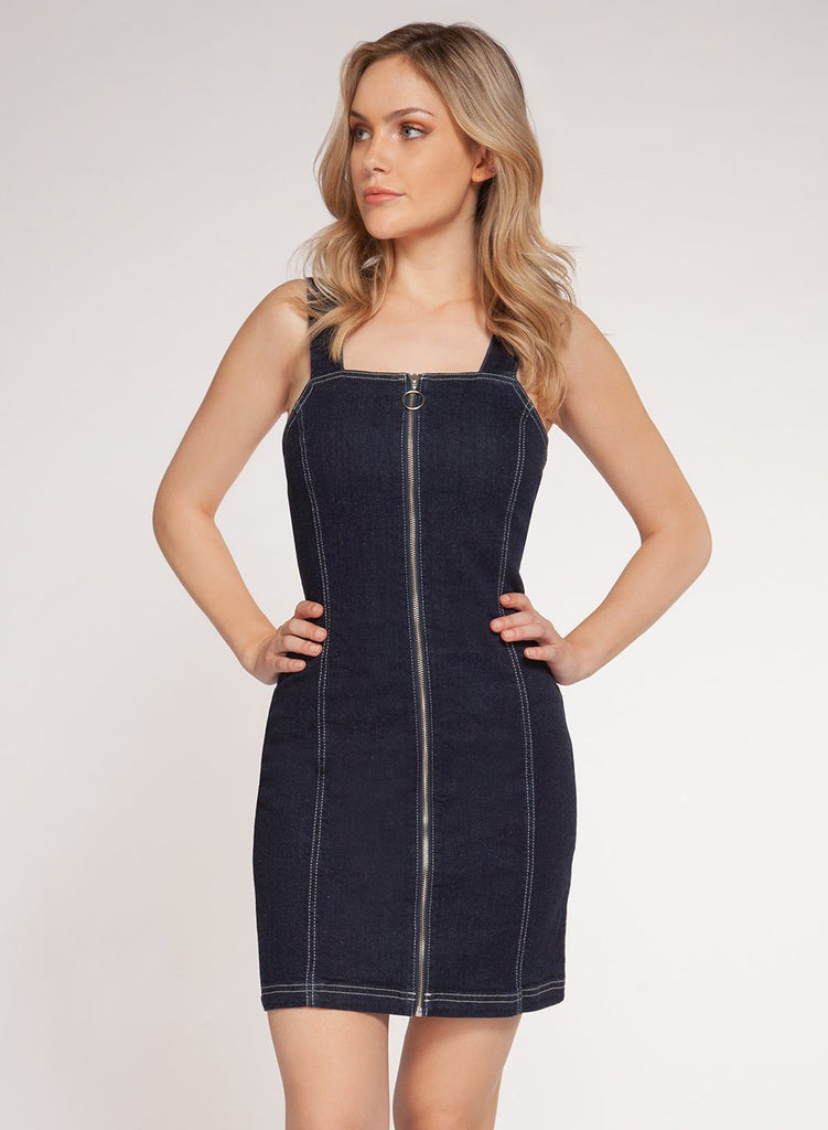 Dex Denim Overall Dress