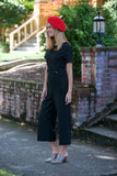 Ellison Classic Solid Short Wide Leg Jumpsuit