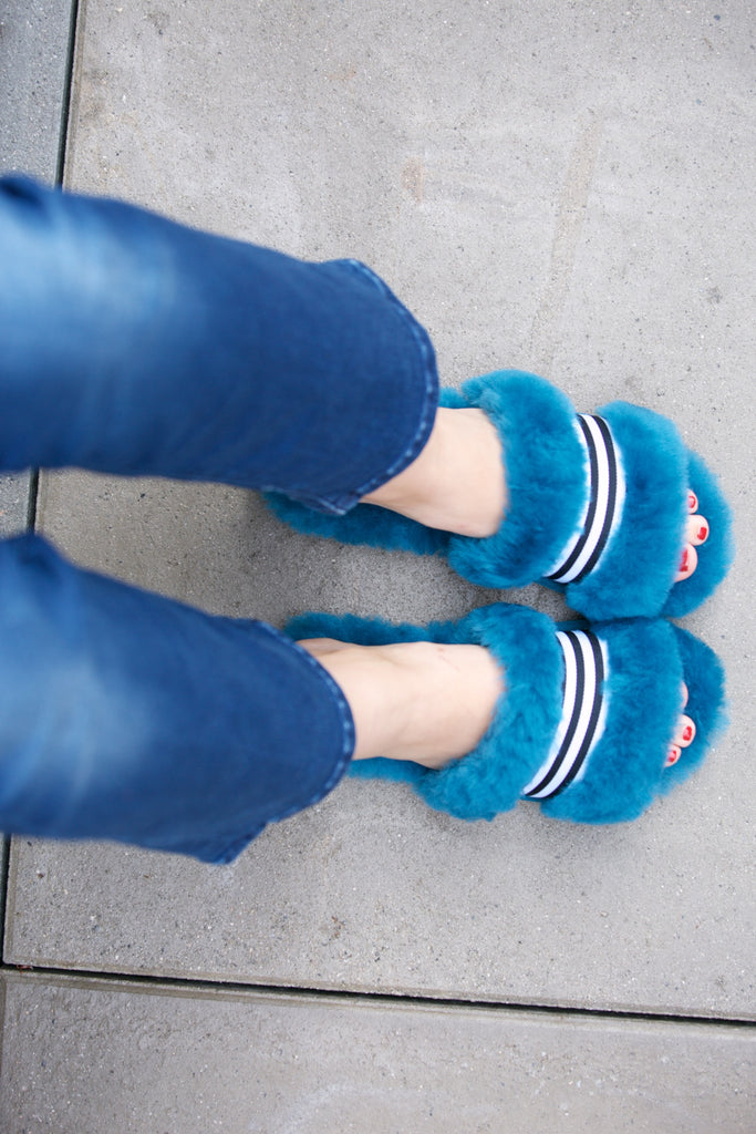 EMU Australia Wrenlette Slipper Slide Teal