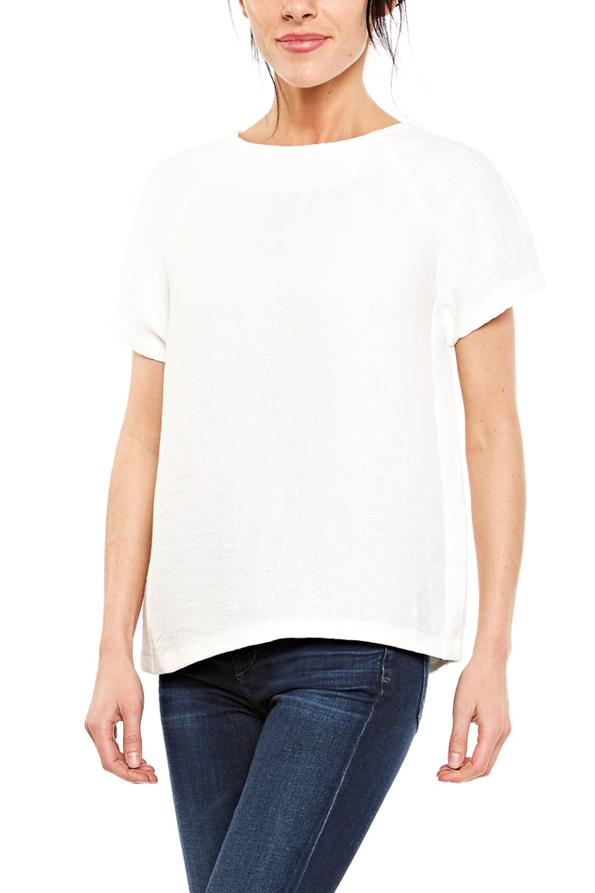 Elk Fine Pleat Top in White
