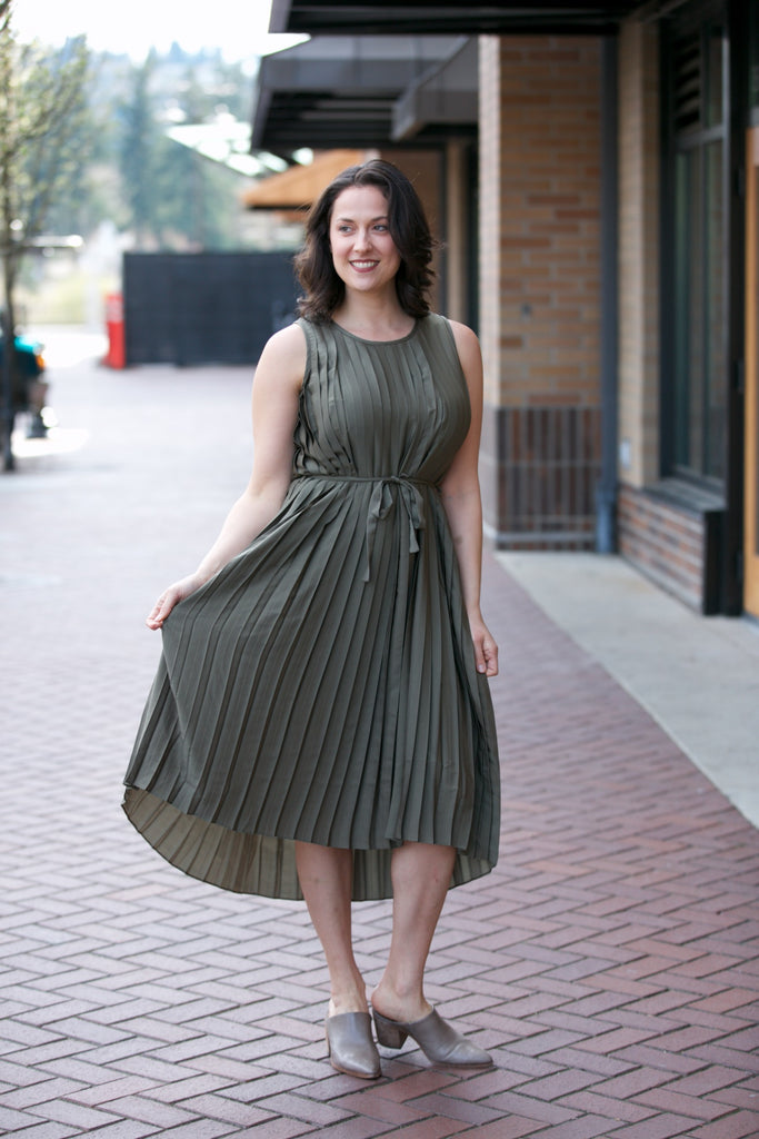 Elk Tekstur Dress Olive